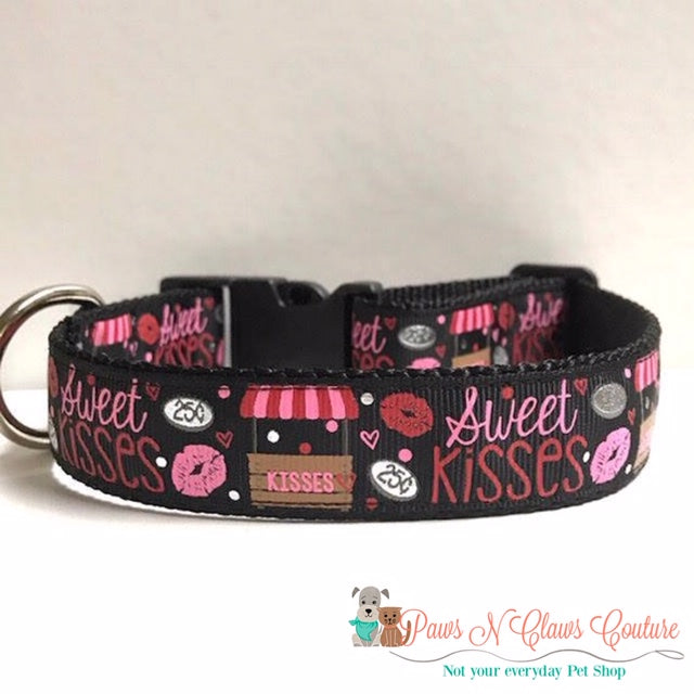 "1"" Kissing Booth Dog Collar - Paws N Claws Couture"