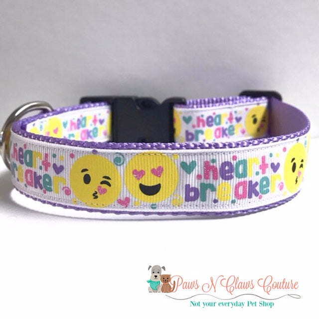 "1"" Heartbreaker Dog Collar - Paws N Claws Couture"