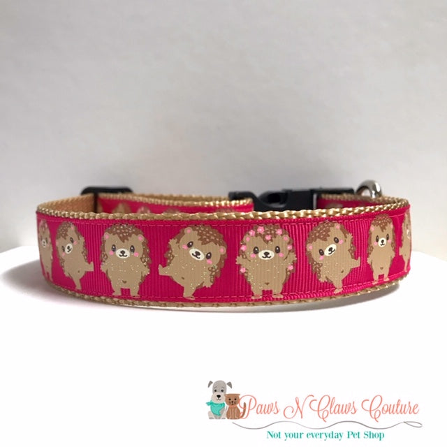 "1"" Hedgehog Dog Collar - Paws N Claws Couture"
