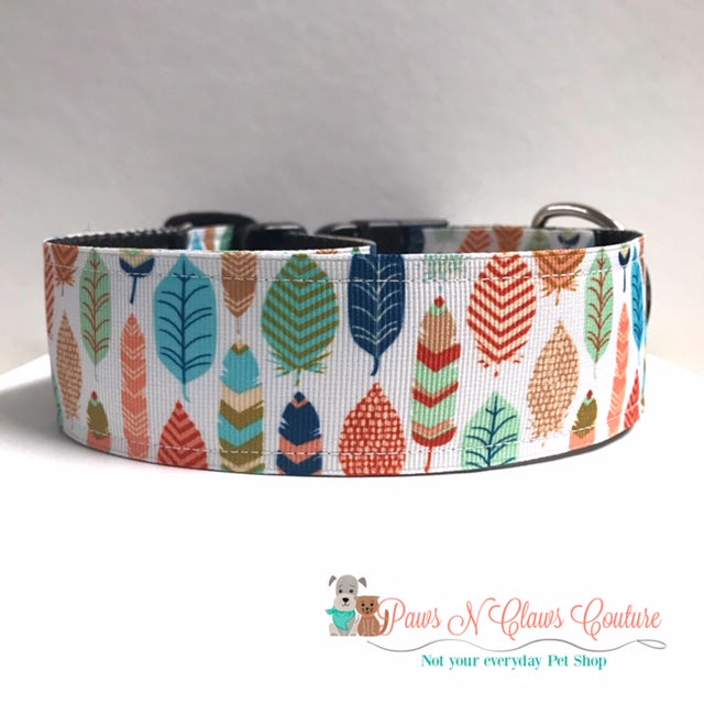 "1.5"" Feathers Dog Collar"