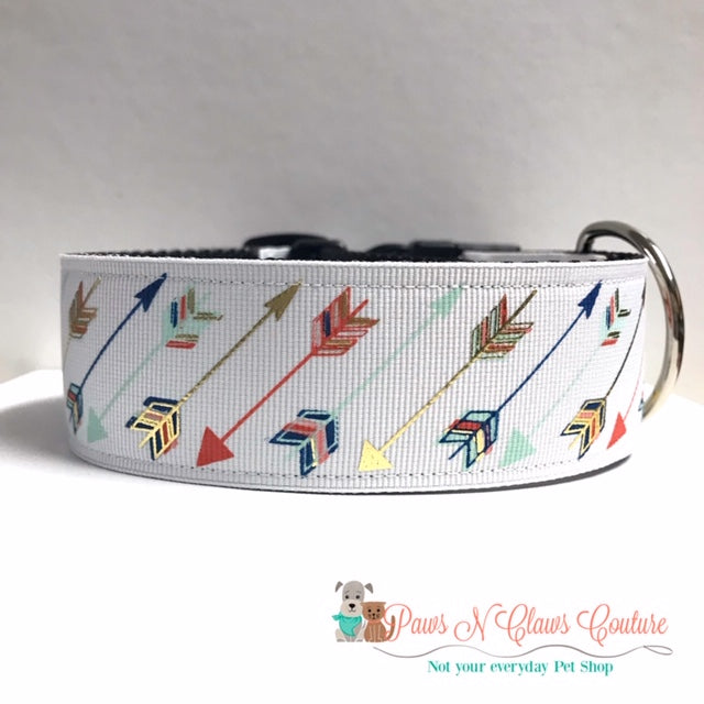 "1.5"" Foil Arrows Dog Collar"