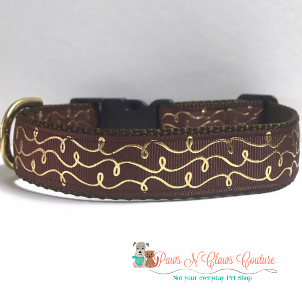 "1"" Fall Swirl Dog Collar - Paws N Claws Couture"