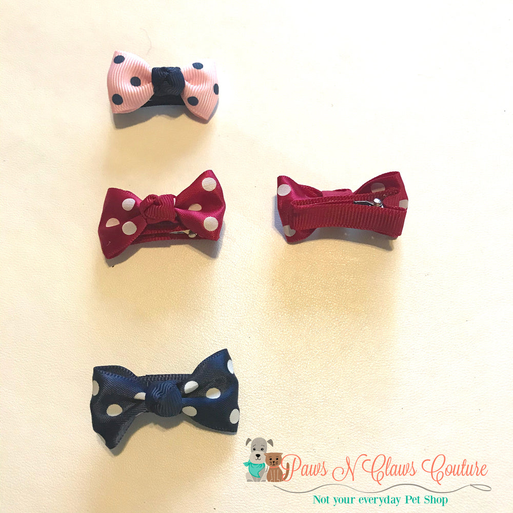 Polka dots Hair Clips - Paws N Claws Couture