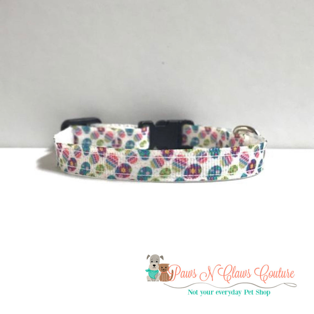 "3/8"" Mini Eggs Cat or Small Dog Collar"