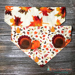 Reversible turkeys and leaves Bandana
