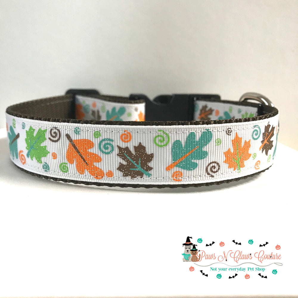 "1"" Fall Leaves or Pick of the Patch Dog Collar - Paws N Claws Couture"