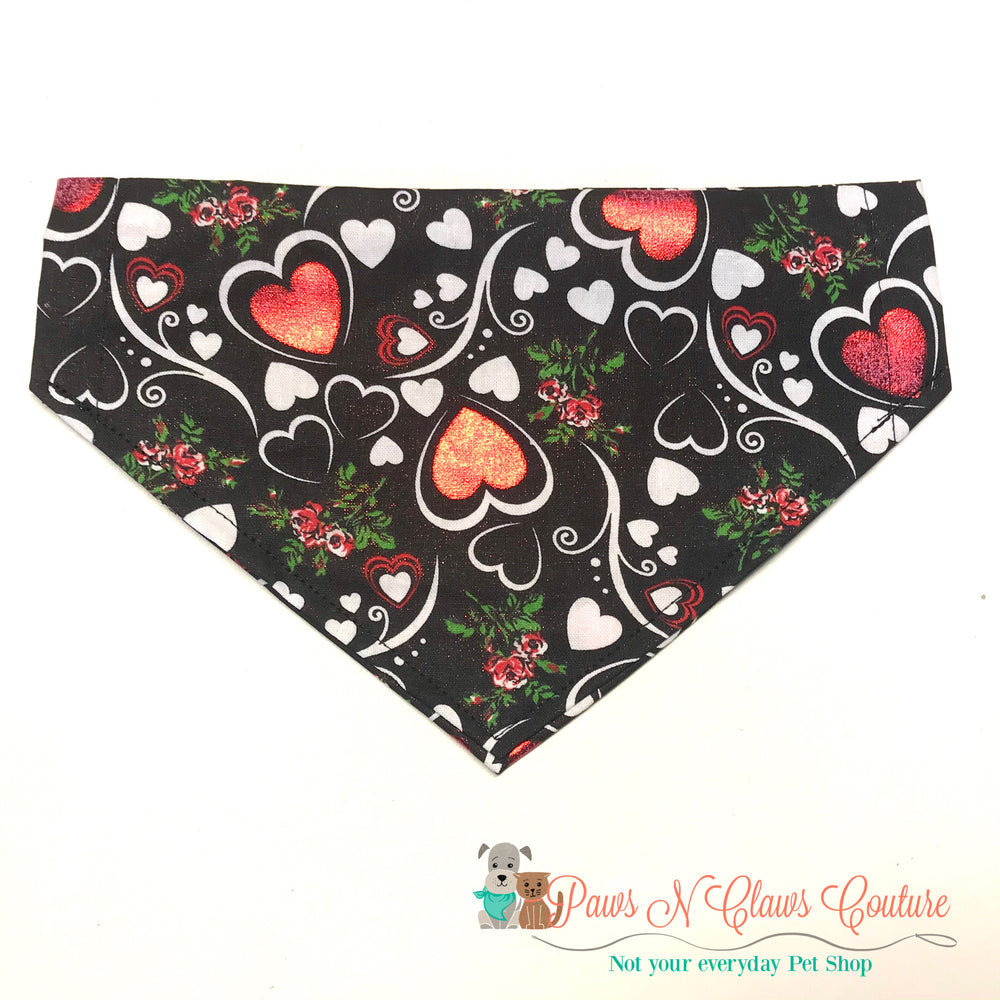 Metallic hearts Bandana