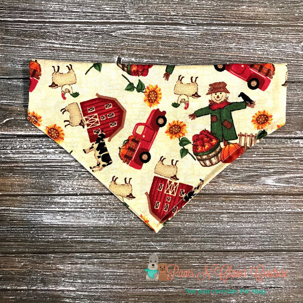 Fall on the farm Bandana - Paws N Claws Couture