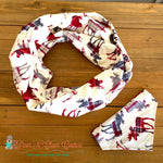 Plaid Moose infinity Scarf or Bandana