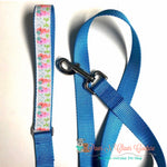 "1"" Seahorses in bows Dog Collar, Leash Available - Paws N Claws Couture"