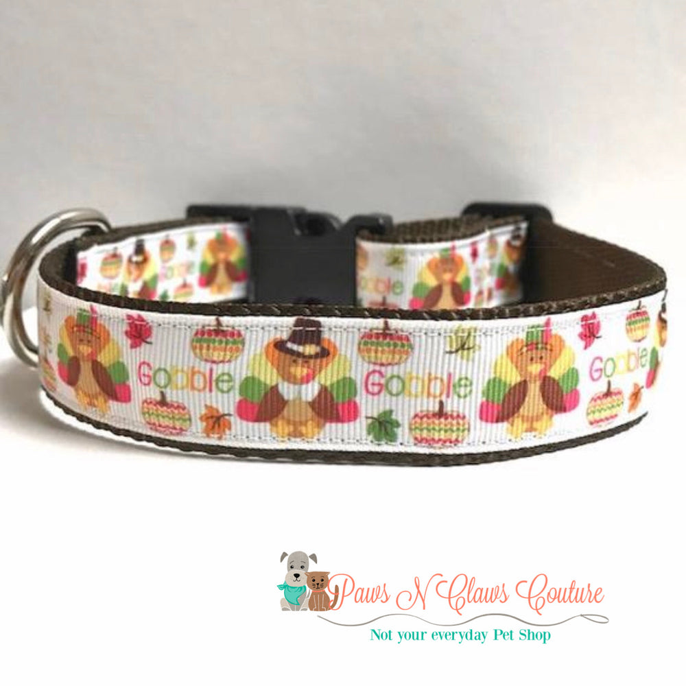 "1"" Gobble Dog Collar - Paws N Claws Couture"