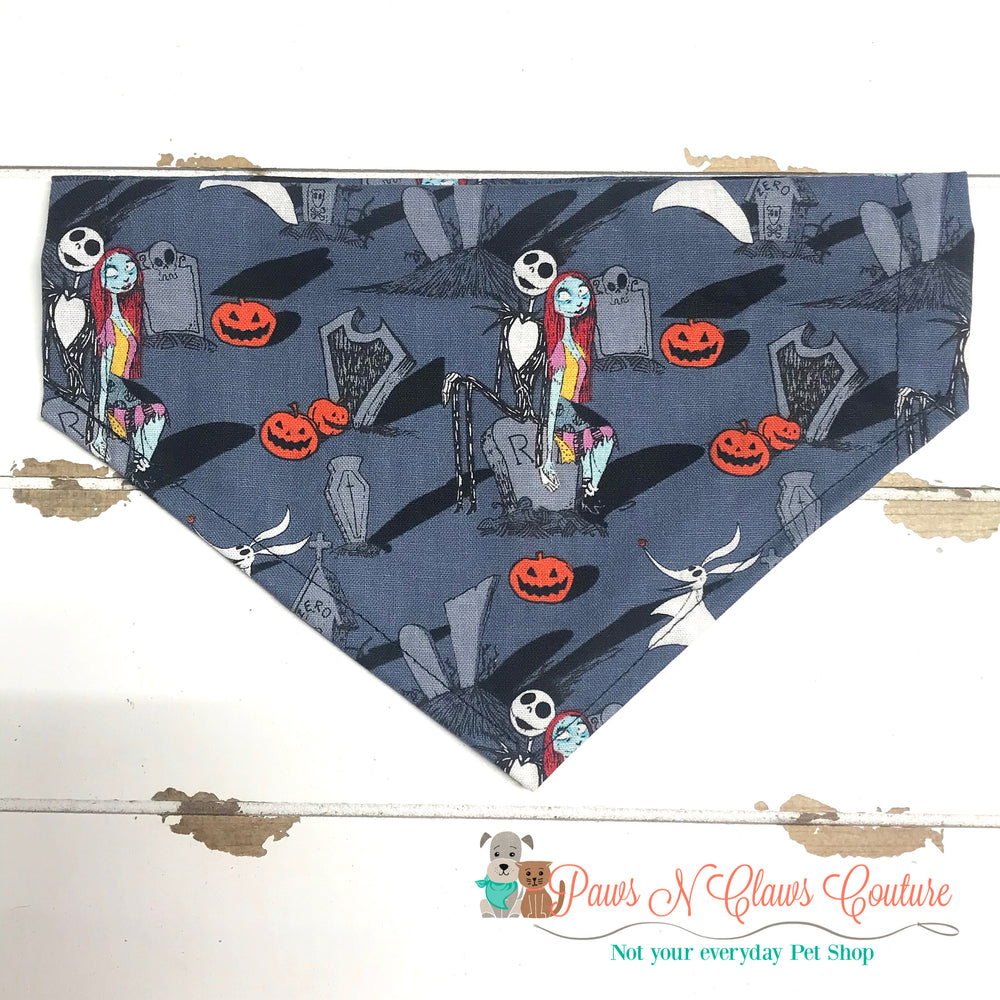 Jack and sally inspired Bandana - Paws N Claws Couture