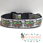 "1"" Monster mash Dog Collar - Paws N Claws Couture"