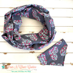 Grey Paw Hearts Scarf or Bandana