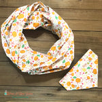 Pumpkins and squirrels Scarf or Bandana
