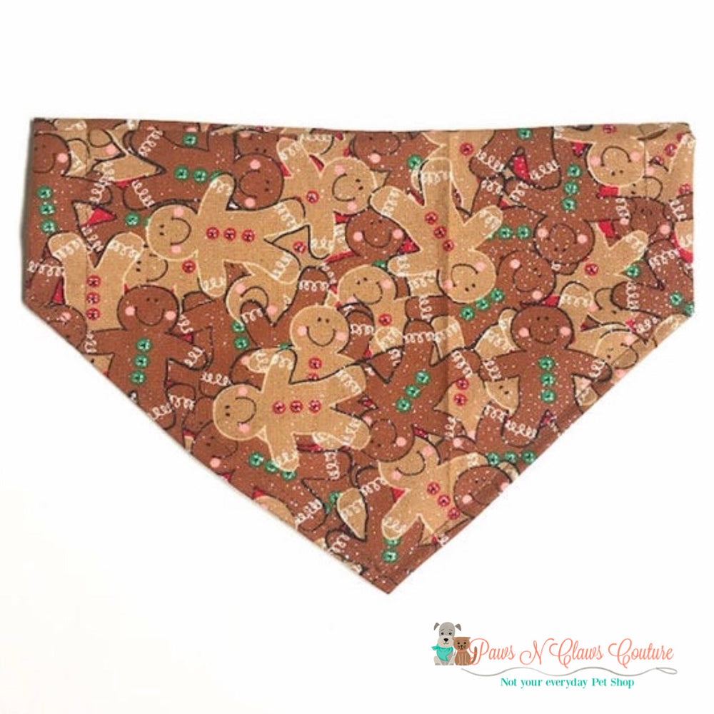 Glitter Gingerbread Bandana - Paws N Claws Couture