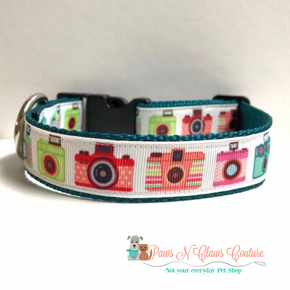 "1"" Cartoon camera Dog Collar - Paws N Claws Couture"