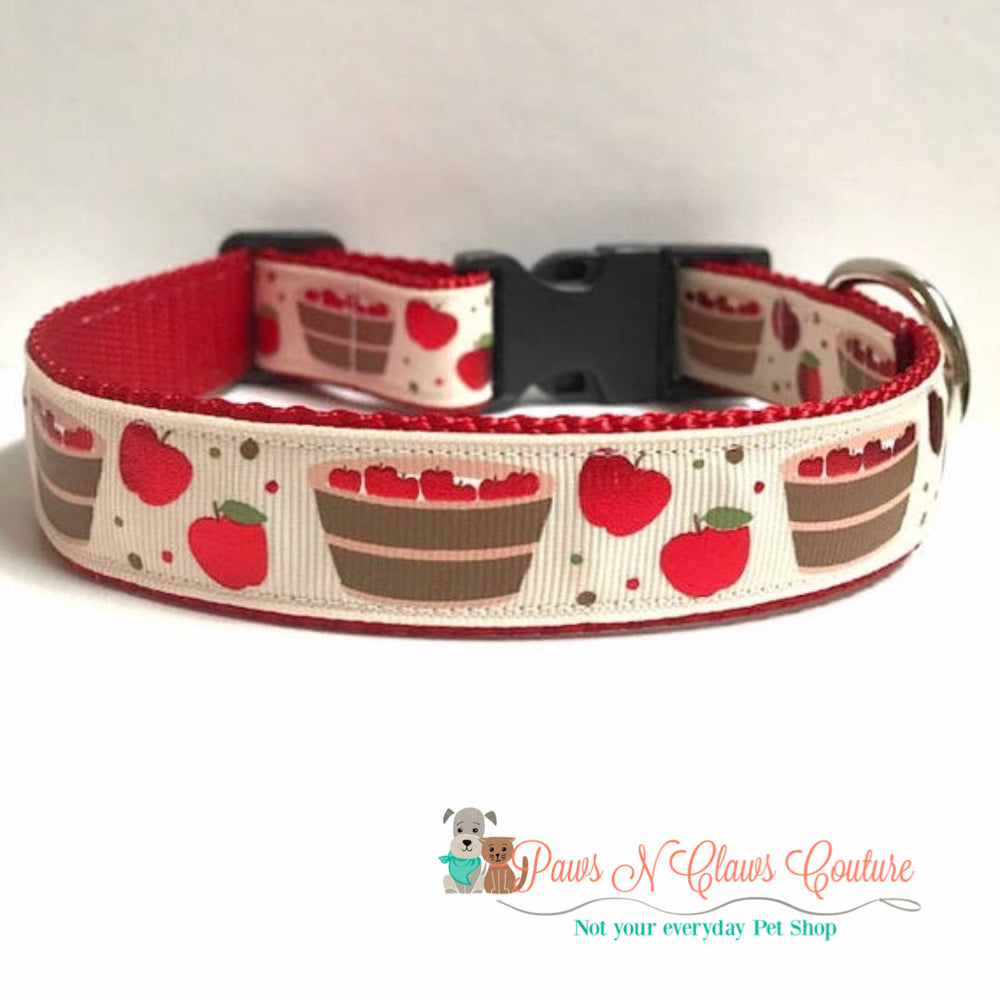 "1"" Bob for apples Dog Collar - Paws N Claws Couture"
