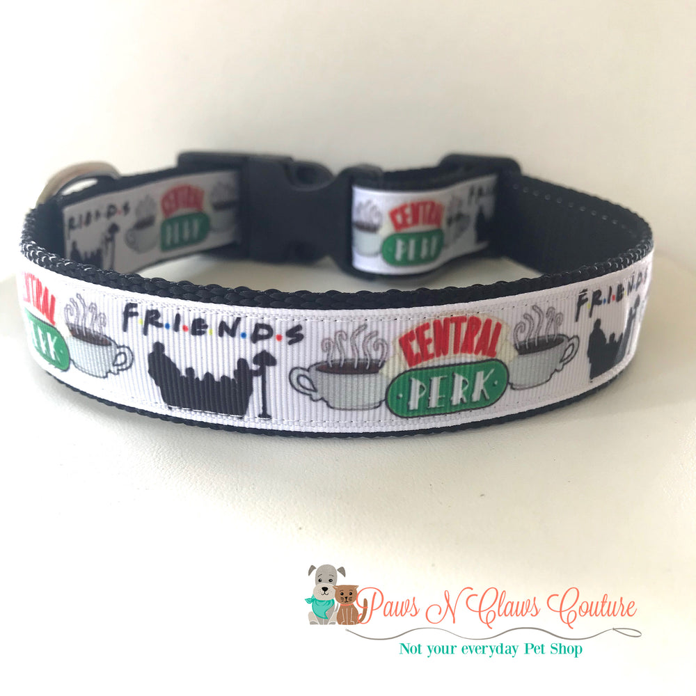 "1"" Friends inspired Dog Collar - Paws N Claws Couture"