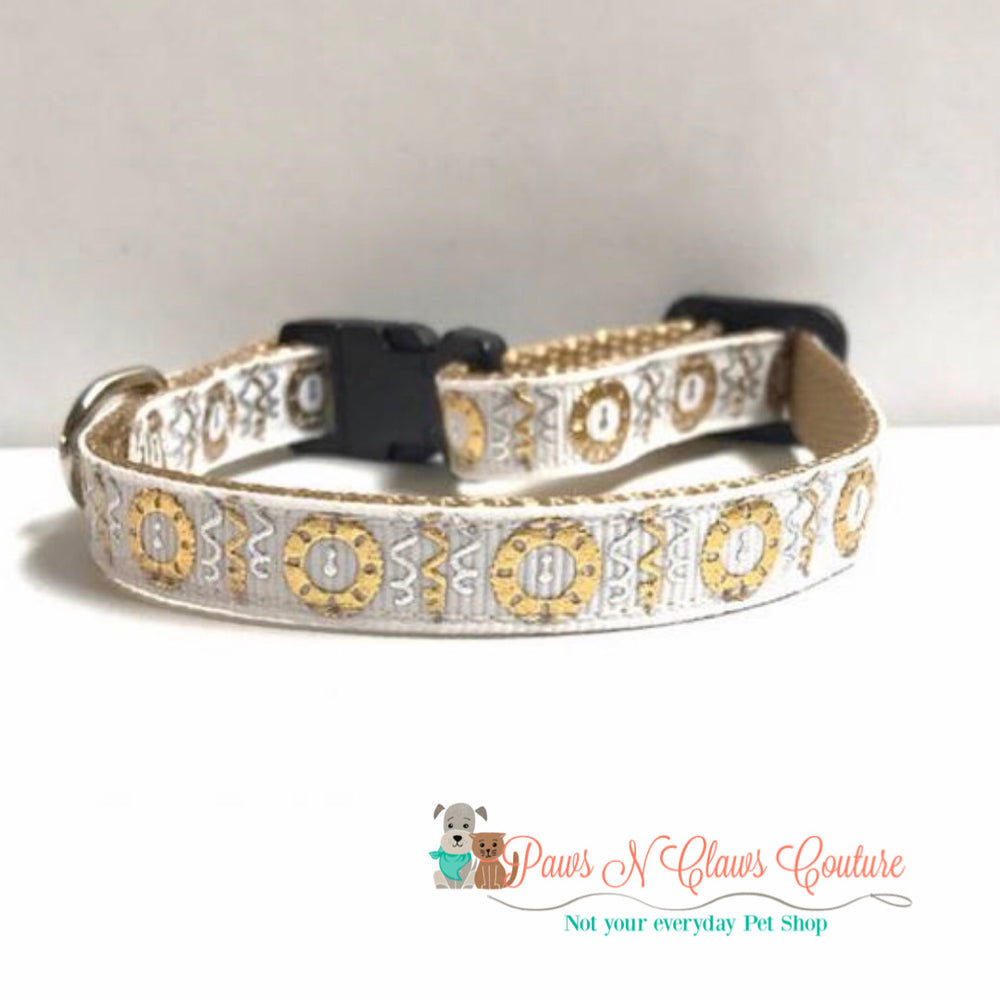 "3/8"" Clock strikes midnight Cat or Small Dog Collar"