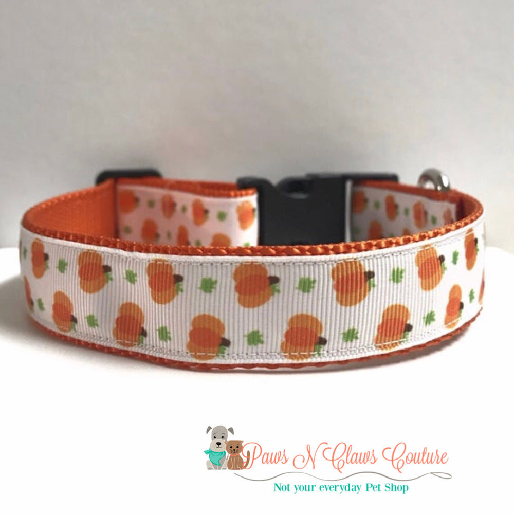 "1"" Mini pumpkins Dog Collar - Paws N Claws Couture"