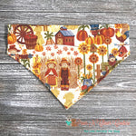 Fall scarecrows Bandana - Paws N Claws Couture