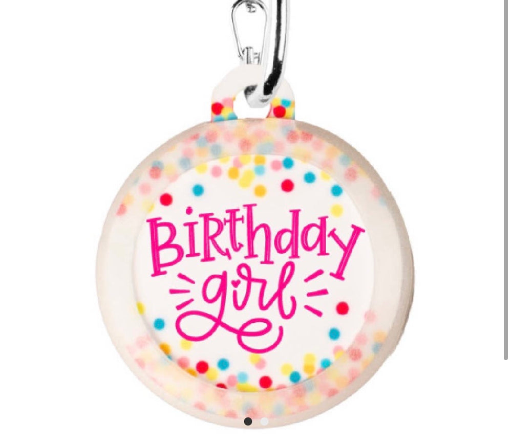 Birthday girl Dog Tag Charm