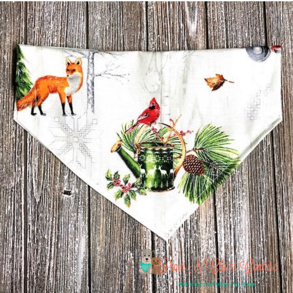 Winter in the country Bandana - Paws N Claws Couture