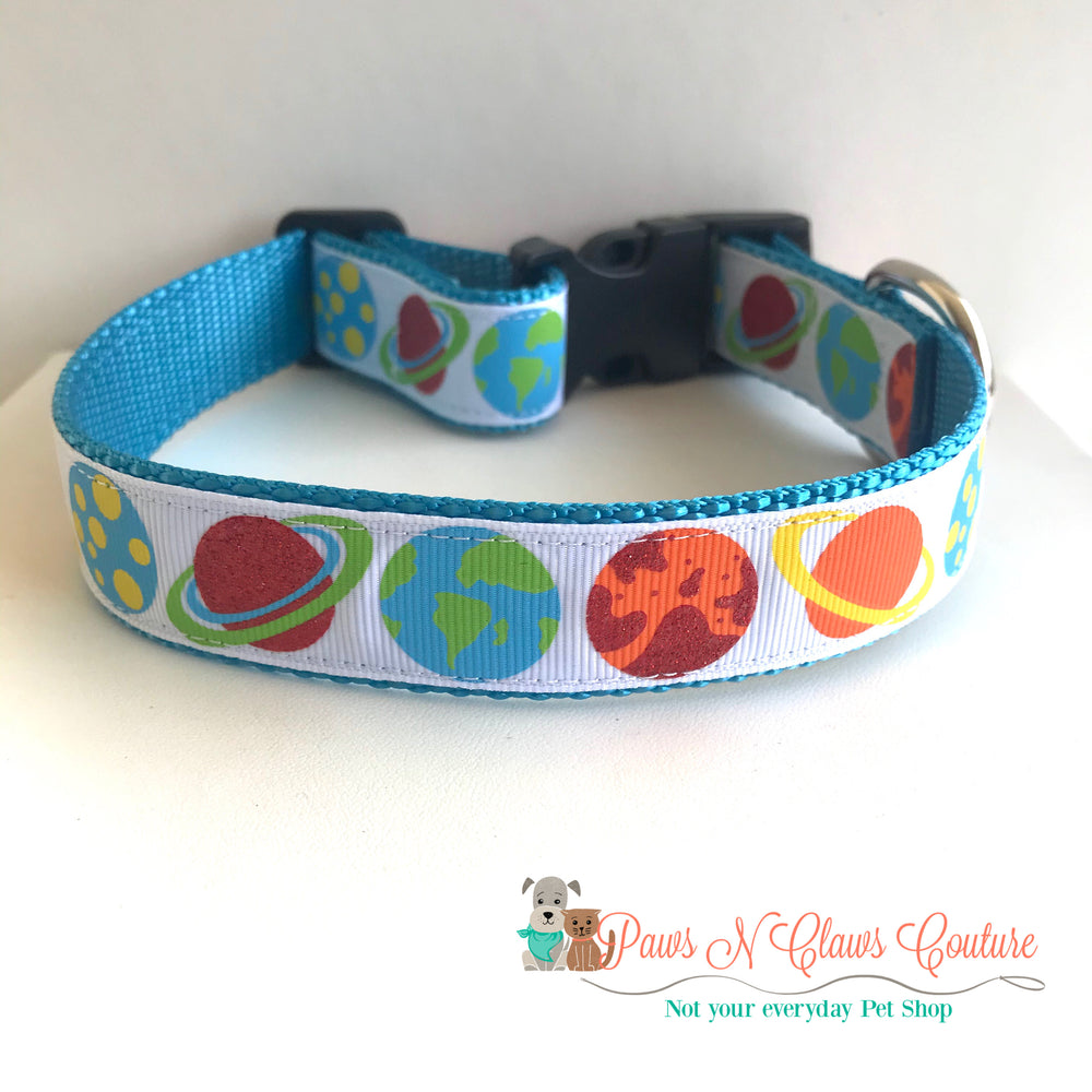 "1"" Solar system Dog Collar - Paws N Claws Couture"