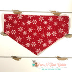 Snowflakes on red Bandana