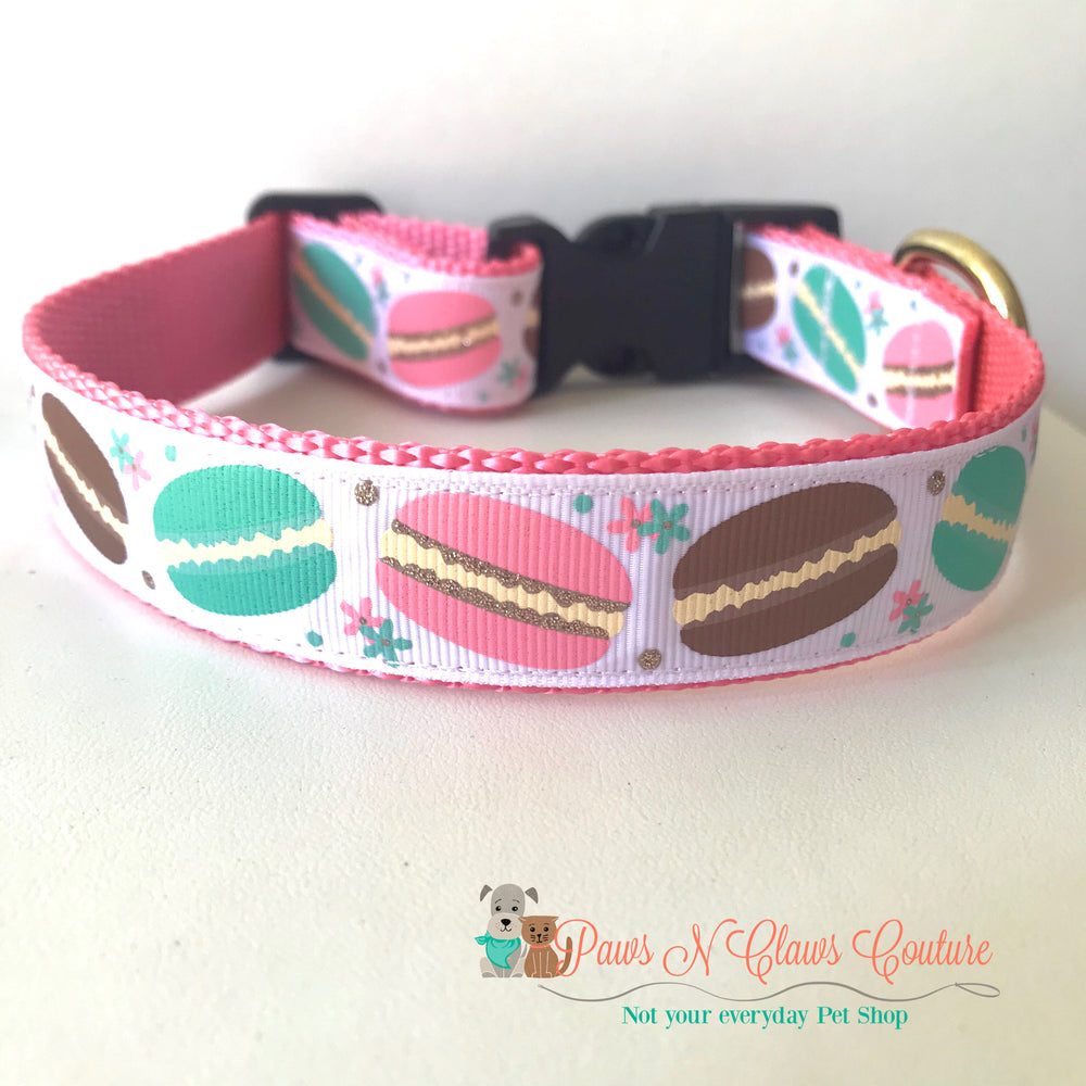 "1"" Macaroons Dog Collar - Paws N Claws Couture"