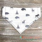 Reversible Moose, deer and buffalo Bandana - Paws N Claws Couture