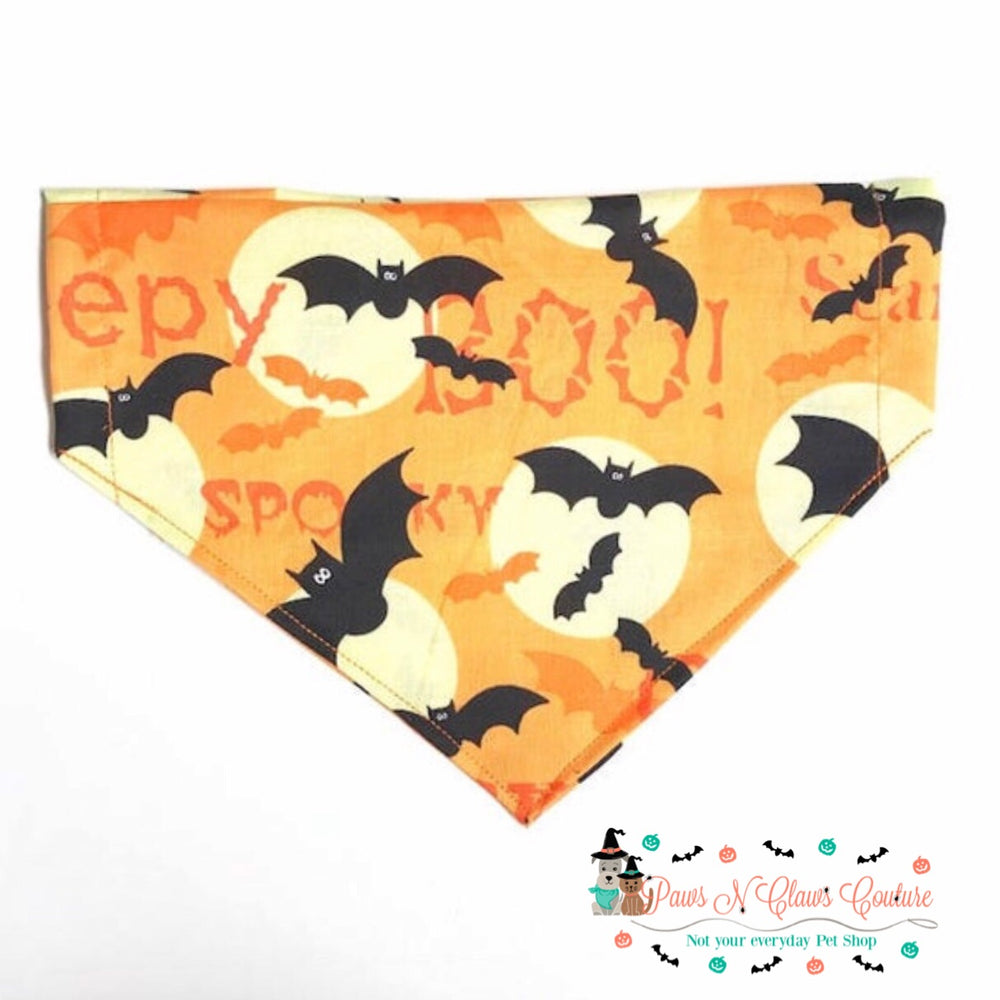 Bats on a full moon Bandana - Paws N Claws Couture