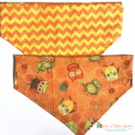 Reversible fall owls Bandana - Paws N Claws Couture