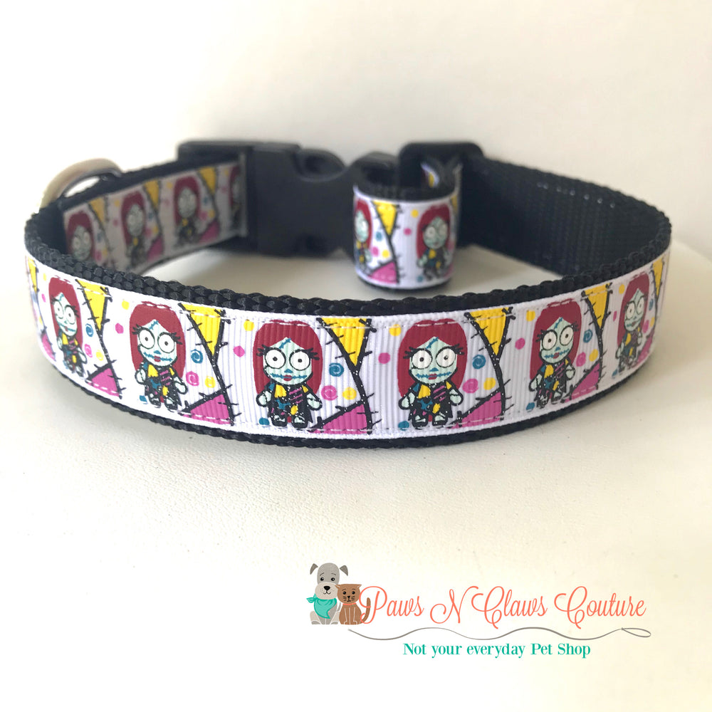 "1"" Sally inspired Dog Collar - Paws N Claws Couture"