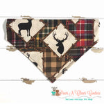 Framed forest animals and plaid Bandana - Paws N Claws Couture