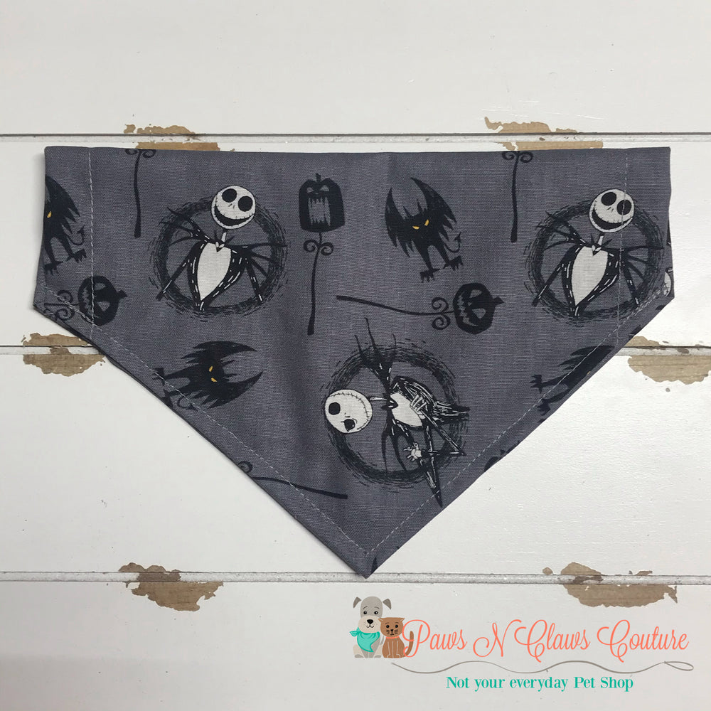 Jack & Bats inspired Bandana - Paws N Claws Couture
