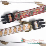 "1"" Gingerbread or Santa Dog Collar - Paws N Claws Couture"