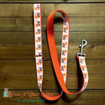 "1"" Pumpkin kisses Dog Collar, Leash Available"