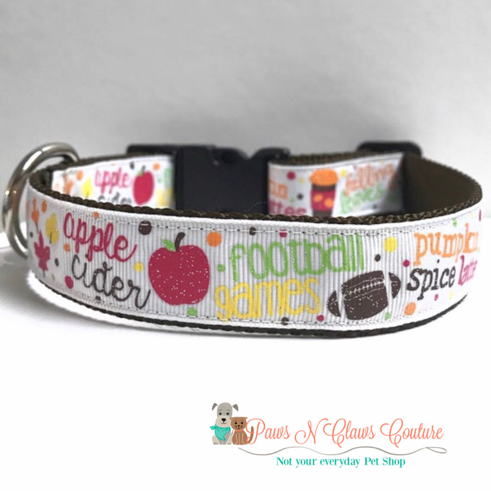 "1"" Love about fall Dog Collar - Paws N Claws Couture"