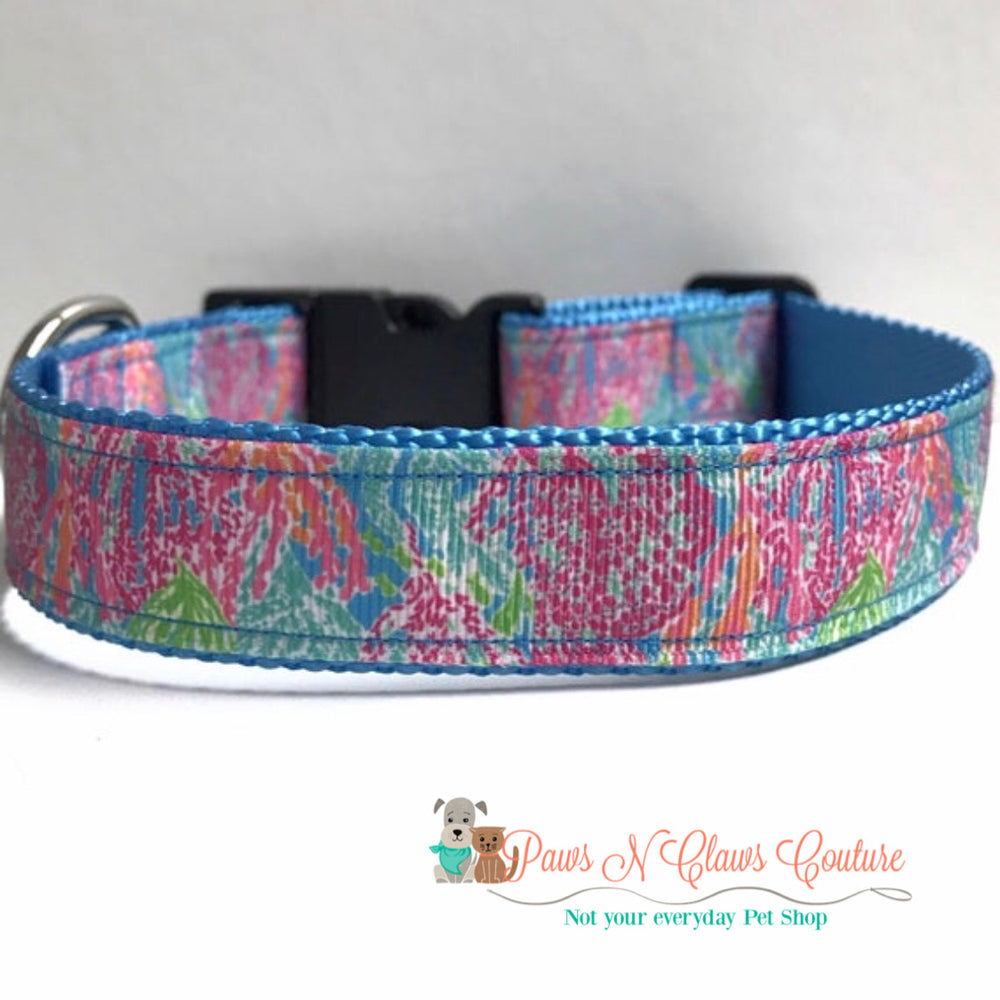 "1"" lets cha cha lily inspired Dog Collar, Leash Available"