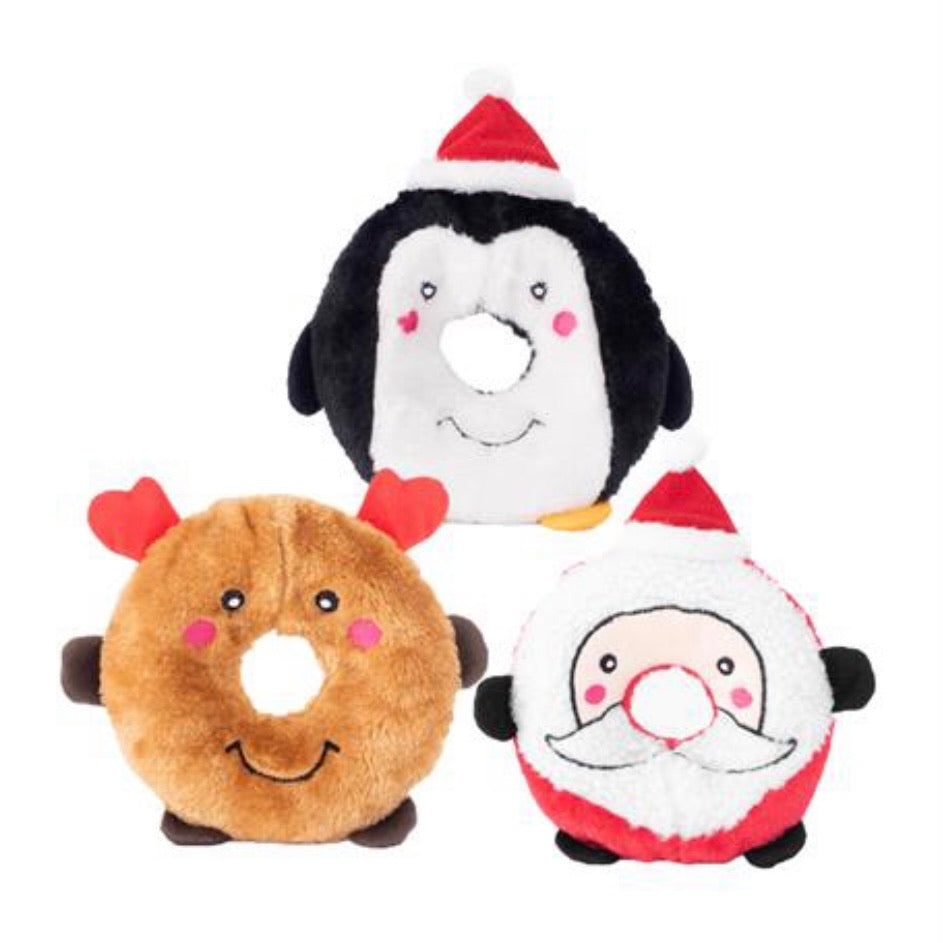Holiday Donutz Buddies by Zippy Paws - Paws N Claws Couture