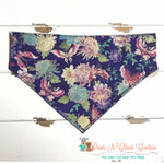 Reversible Asian butterflies and flowers Bandana - Paws N Claws Couture