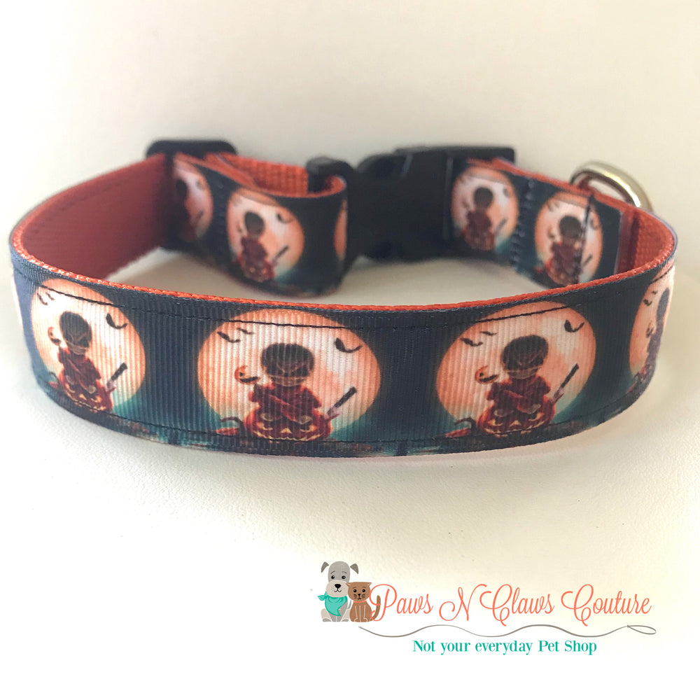 "1"" Trick R' Treat Sam inspired Dog Collar - Paws N Claws Couture"