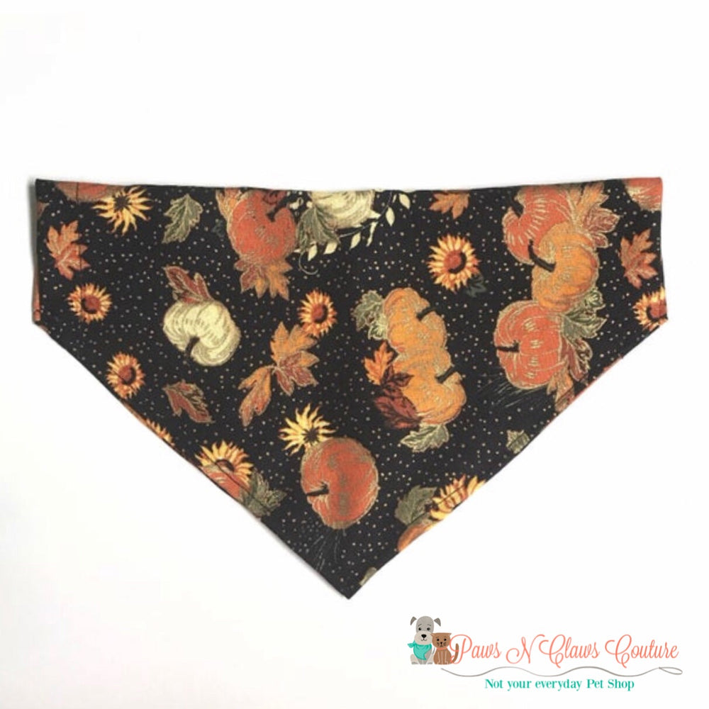 Pumpkins and sunflowers Bandana - Paws N Claws Couture