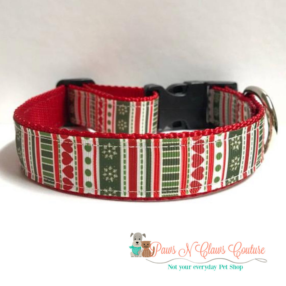 "1"" Christmas sweater Dog Collar - Paws N Claws Couture"