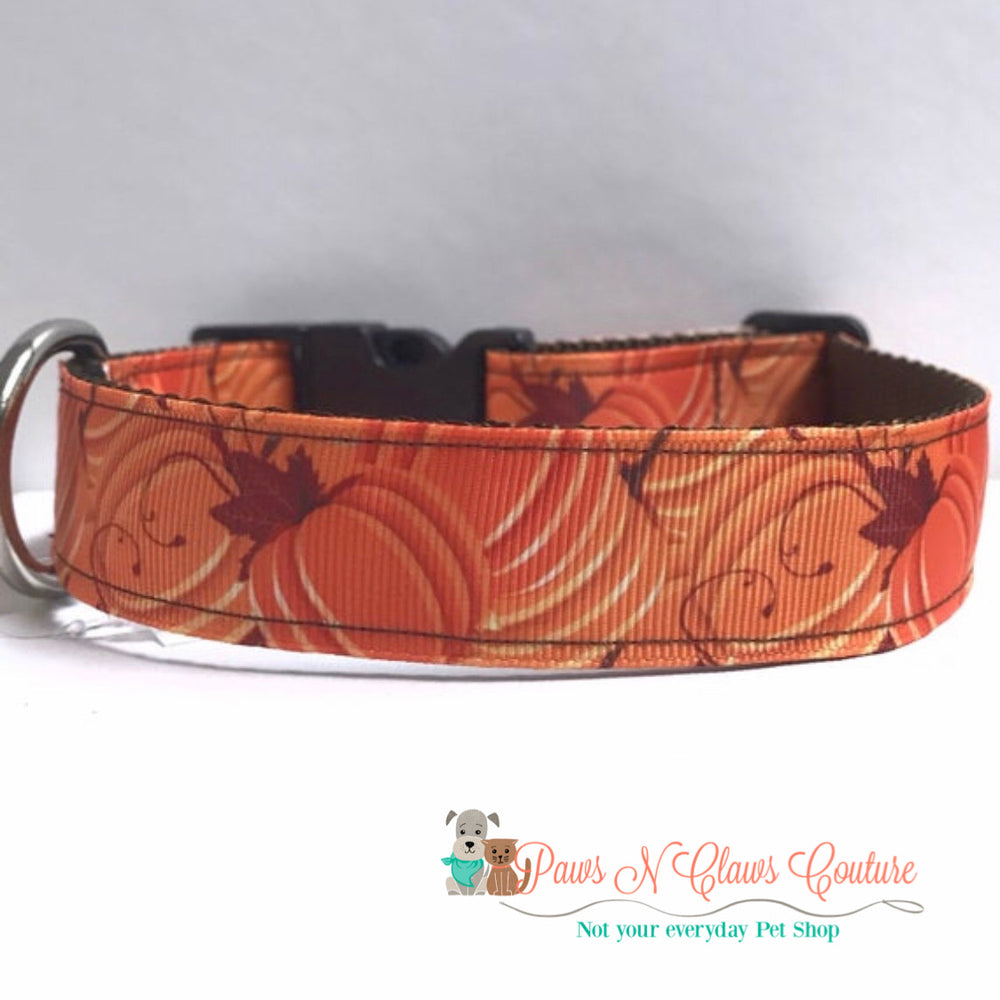 "1"" Pumpkin Patch Dog Collar - Paws N Claws Couture"
