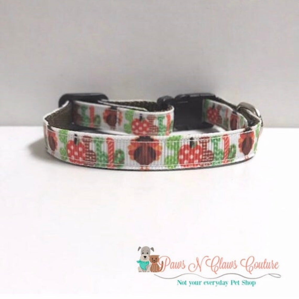 "3/8"" Gobble Cat or Small Dog Collar - Paws N Claws Couture"