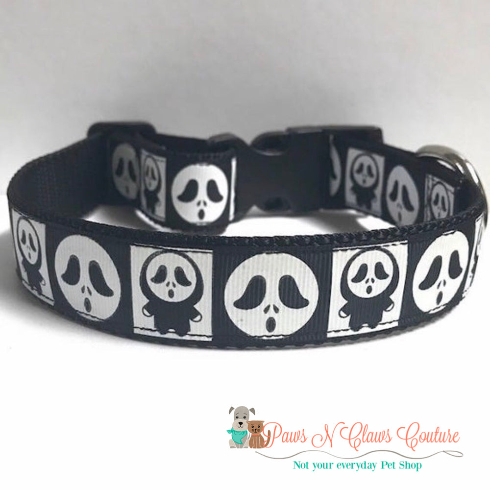 "1"" Ghoul Dog Collar - Paws N Claws Couture"