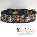 "1"" Spiders and webs Dog Collar - Paws N Claws Couture"